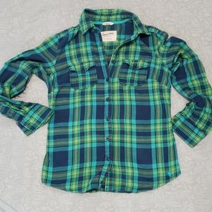 💙 5 for $16-Aeropostale flannel plaid top